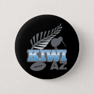 KIWI AZ rugby bird and silver fern New Zealand Button
