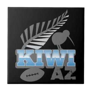 KIWI AZ rugby bird and silver fern New Zealand Tile