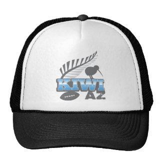 KIWI AZ rugby bird and silver fern New Zealand Trucker Hat