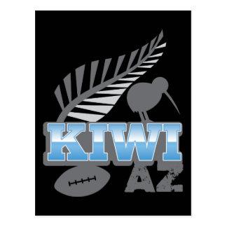 KIWI AZ rugby bird and silver fern Postcard