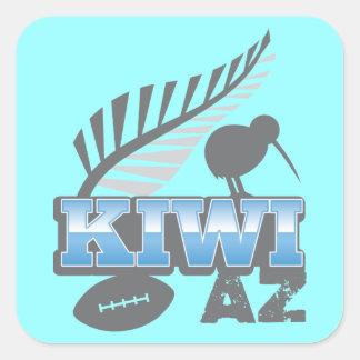KIWI AZ rugby bird and silver fern Square Sticker