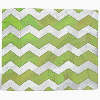 Kiwi Bash Green Chevron Pattern Binder