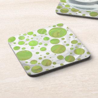 Kiwi Bash Green Polka Dot Coaster