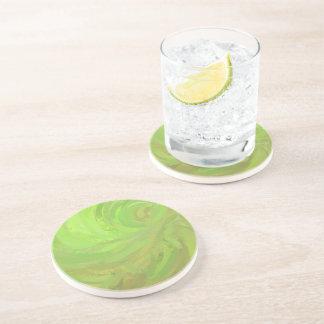 Kiwi Bash Green Swirl Drink Coaster