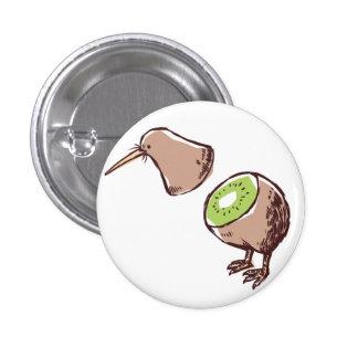 Kiwi bird 1 inch round button