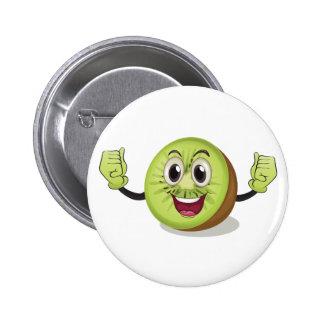 Kiwi bird 2 inch round button