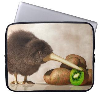 Kiwi Bird and Kiwifruit Laptop Computer Sleeve