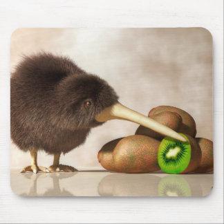 Kiwi Bird and Kiwifruit Mouse Pads