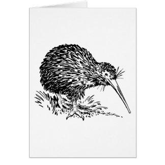 Kiwi Bird Art Card