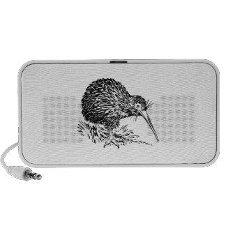 Kiwi Bird Art iPod Speakers