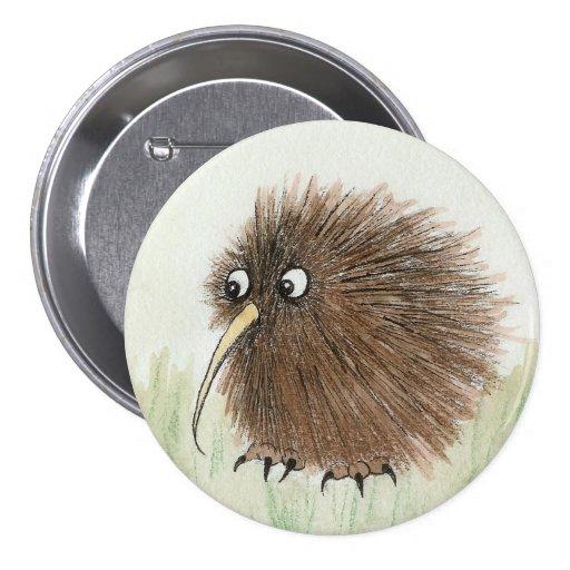 Kiwi Bird Pinback Buttons
