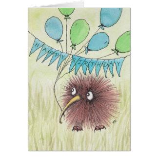 Kiwi Bird Happy Birthday Greeting Card