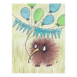 Kiwi Bird Happy Birthday Postcard