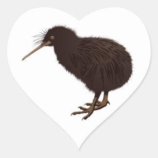 Kiwi Bird Heart Sticker