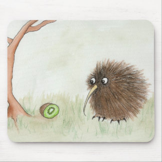 Kiwi Bird & Kiwi Fruit Mouse Pad