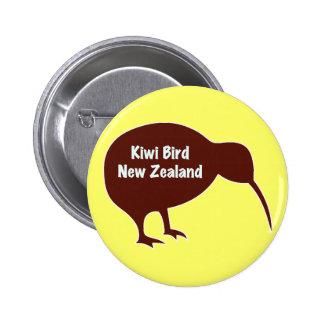 Kiwi Bird - New Zealand 2 Inch Round Button