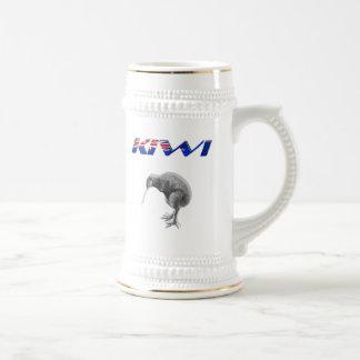 Kiwi Bird New Zealand flag logo gifts Beer Stein
