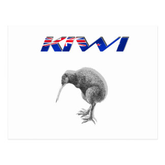 Kiwi Bird New Zealand flag logo gifts Postcard