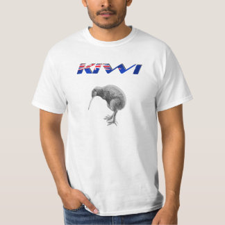 Kiwi Bird New Zealand flag logo gifts Tee Shirt