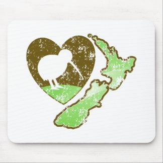 Kiwi bird NEW ZEALAND with a love heart Mouse Pad