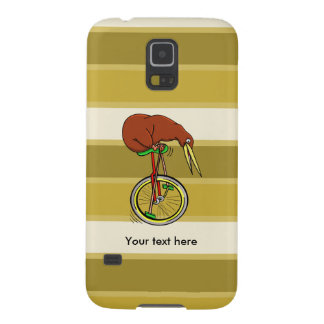 Kiwi Bird On A Unicycle Funny Cartoon Galaxy S5 Cover