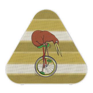 Kiwi Bird On A Unicycle Funny Cartoon Speaker