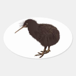 Kiwi Bird Oval Sticker