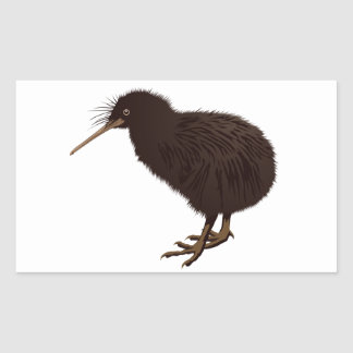 Kiwi Bird Rectangular Sticker