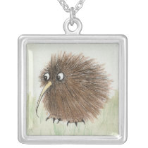 Kiwi Bird Silver Plated Necklace