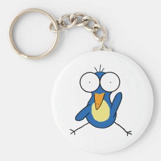 Kiwi Button Keychain
