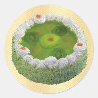 Kiwi Cake Classic Round Sticker
