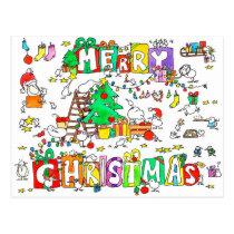 Kiwi Christmas postcard by Nicole Janes