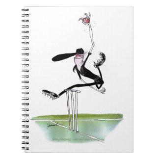 kiwi cricket bowler, tony fernandes notebook