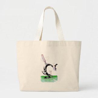 kiwi cricket eye on the ball, tony fernandes large tote bag