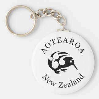 KIWI de Nueva Zelanda Aotearoa Llavero Redondo Tipo Pin
