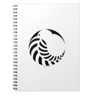 Kiwi de NZ/emblema del helecho de plata Cuaderno