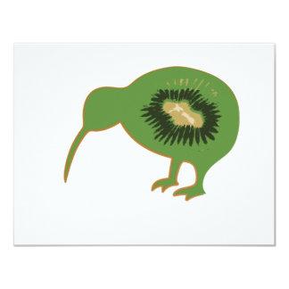 """kiwi del nz del kiwi invitación 4.25"""" x 5.5"""""""