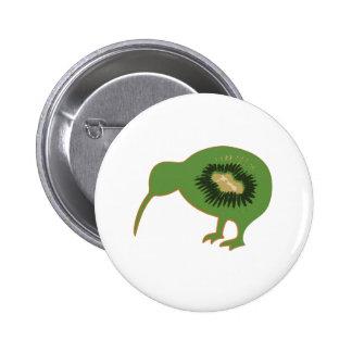 kiwi del nz del kiwi pin redondo de 2 pulgadas