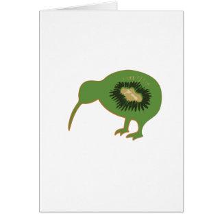 kiwi del nz del kiwi tarjeta de felicitación