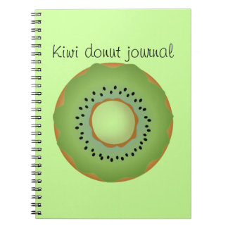 kiwi donut notebook