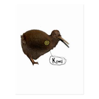 Kiwi en el corazón tarjeta postal