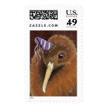 Kiwi en un arte del pájaro del gorra del fiesta -