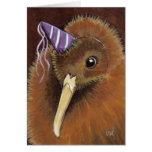 Kiwi en un gorra del fiesta - tarjeta de Personali