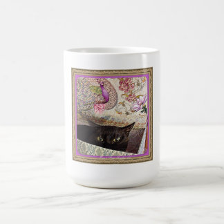 Kiwi en una caja, serie 1, actitud 5, lavanda taza