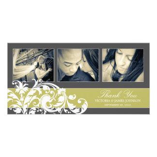 KIWI FLOURISH | WEDDING THANK YOU CARD