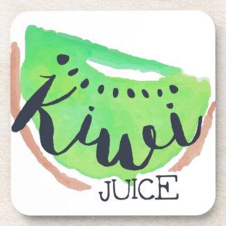 Kiwi Fresh Juice Beverage Coaster