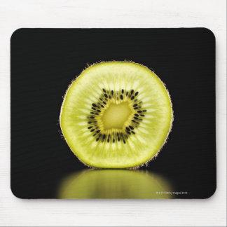 Kiwi,Fruit,Black background Mouse Pad