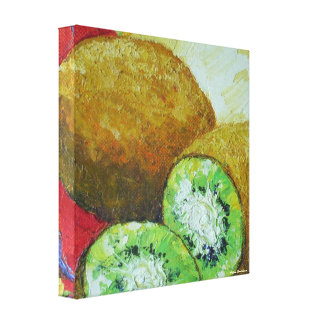 Kiwi Fruit Gallery Wrap Oil Painting Gallery Wrapped Canvas