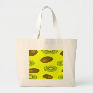 Kiwi fruit pattern large tote bag