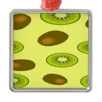 Kiwi fruit pattern metal ornament